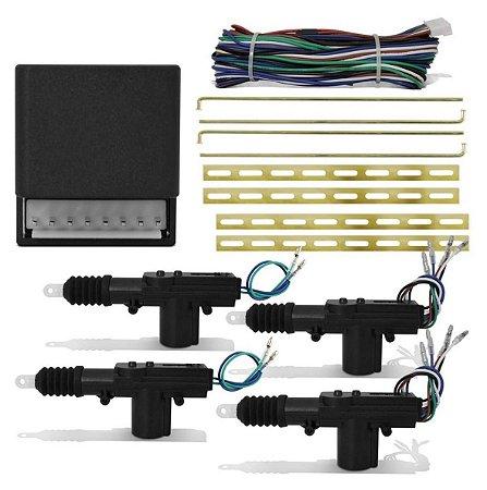 kit Trava Elétrica Universal 4 Portas Duplo Comando