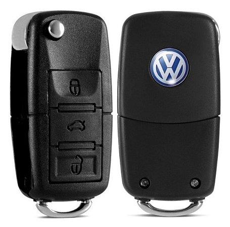 Chave VW 3 Botões Adaptação Gol Saveiro Santana Fusca Voyage