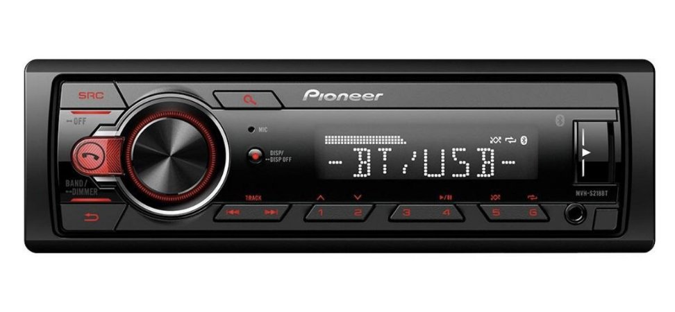 SOM PIONEER MVH-S218BT USB MP3 RCA AUX MIXTRAX Bluetooth
