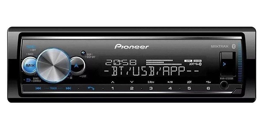 SOM Pioneer Mvh-x7000br Bluetooth Mixtrax Spotify