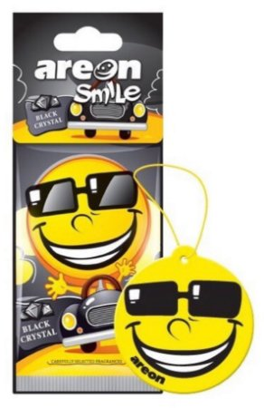 AROMATIZANTE AUTOMOTIVO AREON Smile Black Crystal