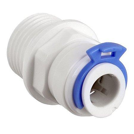 conexão reta rosca 1/2 bspt para tubo 3/8