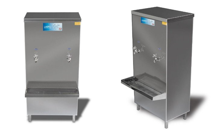 Bebedouro industrial Aço Inox 60 litros com 2 torneiras - KTN