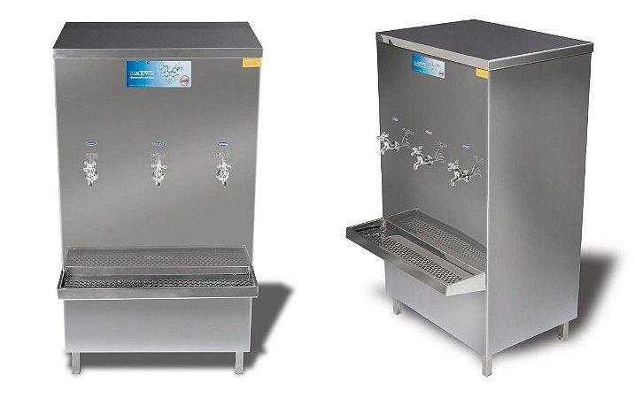 Bebedouro industrial Aço Inox 100 litros com 3 torneiras - KTN