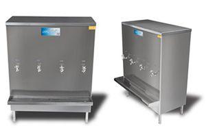 Bebedouro industrial Aço Inox 200 litros com 4 torneiras -  KTN