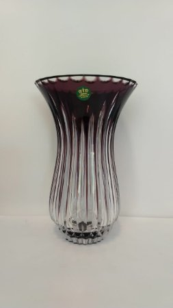 VASO CRISTAL IMPERATTORE BY STRAUSS - COR AMETISTA 25 CM