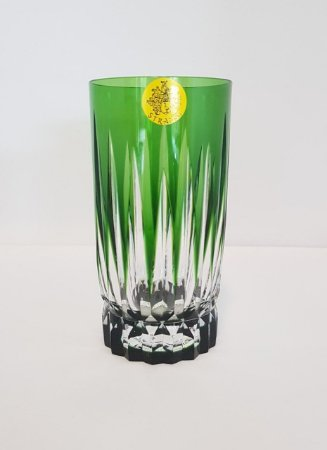 COPO LONG DRINK CRISTAL STRAUSS COR VERDE  CX 1 PC