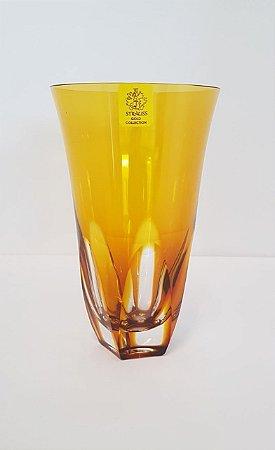 COPO LONG DRINK CRISTAL STRAUSS COR AMARELA CX 1 PC