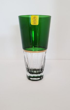 COPO LONG DRINK CRISTAL STRAUSS COR VERDE  CX 6 PCS