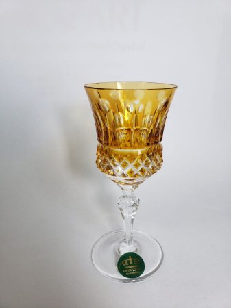 TAÇA LICOR CRISTAL - IMPERATTORE BY STRAUSS - COR AMARELA - CX 1 PC