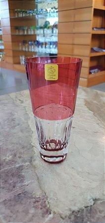 COPO LONG DRINK CRISTAL STRAUSS -  COR RUBI - CX 1 PC