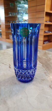 COPO LONG DRINK  CRISTAL - IMPERATTORE BY STRAUSS - COR AZUL - CX 1 PC