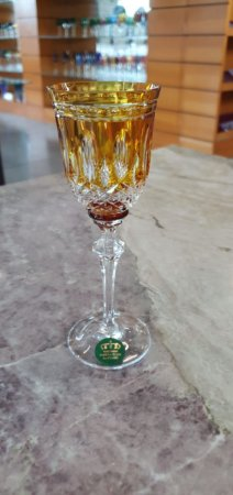 TAÇA LICOR  CRISTAL IMPERATTORE BY STRAUSS - COR AMARELO - CX 1 PC