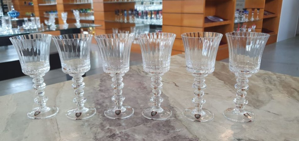 TAÇA LICOR  CRISTAL - IMPERATTORE BY STRAUSS - CX 6 PCS
