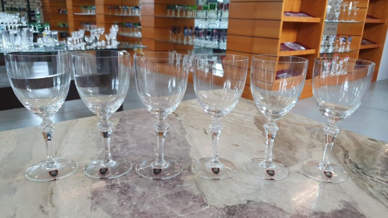 TAÇA BURGUNDY CRISTAL IMPERATTORE BY   STRAUSS - CX 6 PCS