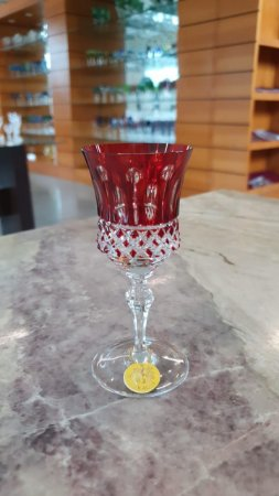 TAÇA LICOR CRISTAL STRAUSS - COR VERMELHA  - CX 1 PC