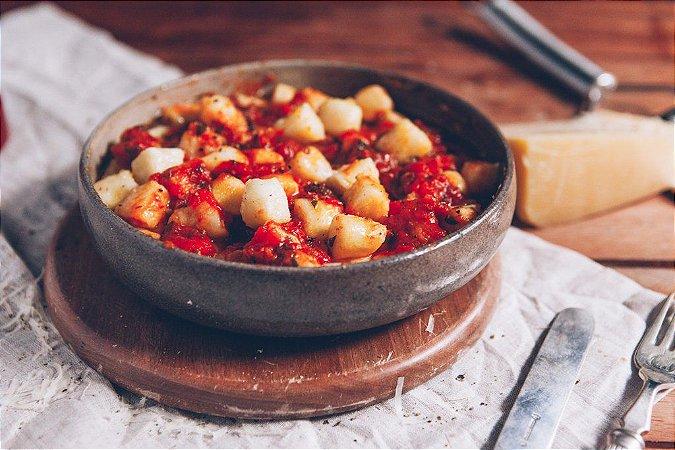 Nhoque ao Molho de Tomate 500g | Serve duas pessoas | Produto congelado e acondicionado em bandeja