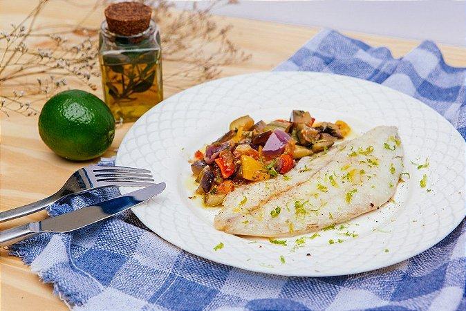 Saint Peter Empanado ao Limão + Ratatouille 300g | Porção Individual  | Produto congelado e acondicionado a vácuo