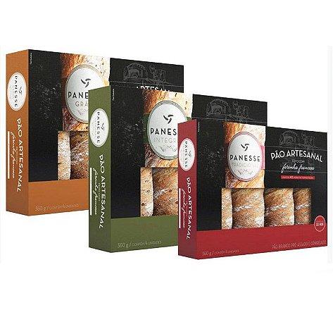 Kit Pães Artesanal Panesse | Cada Caixa Contém 4 Unidades (360G)