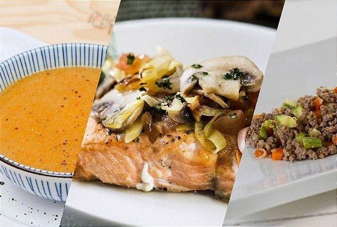 Dieta Sem Glúten e Sem Lactose - 14 refeições | Produto congelado acondicionado a vácuo