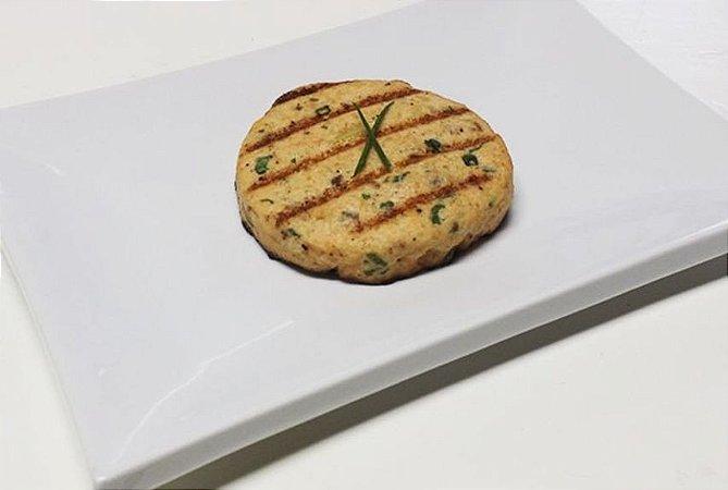 Hambúrguer de Salmão 100g | Porção Individual | Produto acondicionado a vácuo