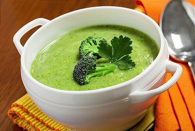 Sopa de Brócolis 400g | Porção Individual |Produto acondicionado em pote
