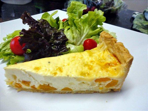 Quiche de Queijo Brie com Damasco (porção para 8 pessoas)