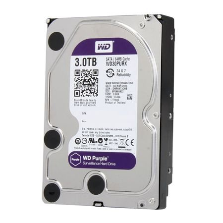 HD Sata Western Digital WD Purple 3TB - WD30PURX