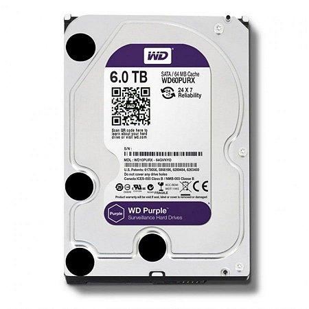 HD Sata Western Digital Intelbras WD Purple 6TB - WD60PURX