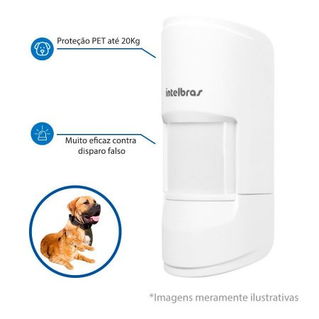 Sensor de Alarme Infravermelho Passivo IVP 4101 PET Smart - Intelbras