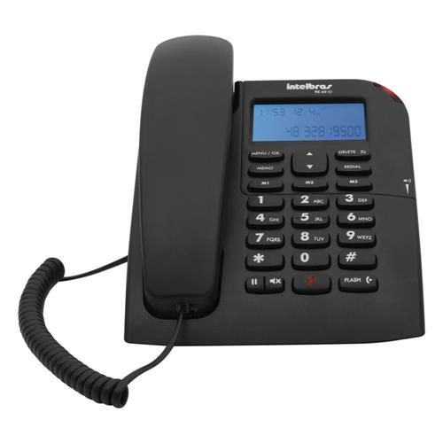 Telefone Com Fio ID TC 60ID Preto - Intelbras