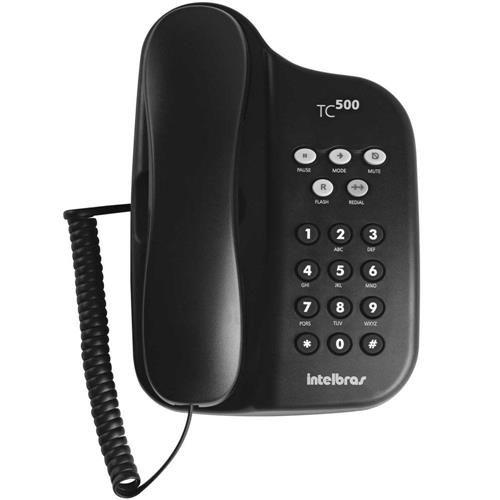 Telefone Com Fio TC 500 Preto - Intelbras