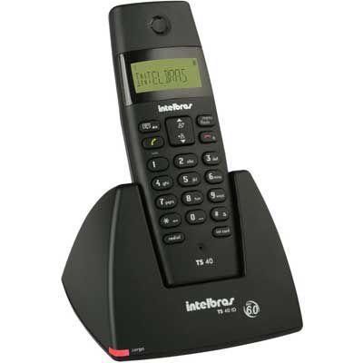Telefone Sem Fio ID TS 40 preto - Intelbras