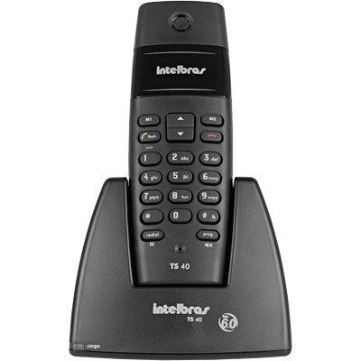 Telefone Sem Fio TS 40 preto - Intelbras