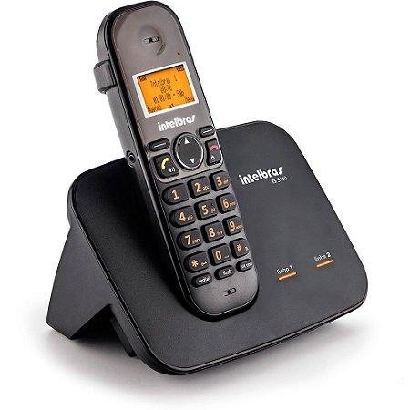 Telefone Sem Fio TS 5150 com Entrada 2 Linhas preto - Intelbras