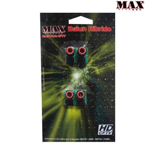 Conversor De Vídeo Balun Rack Max HD  Kit com 4 Peças - MAX Eletron