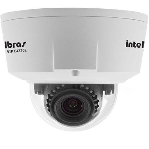 Camera Infra Dome IP VIP E4220Z IK10 IR20 1.3 MP Lente VF - Intelbras