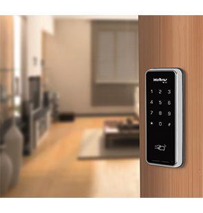 Fechadura Eletrônica Digital Intelbras FR 200, Acesso por Senha ou Cartão Proximidade