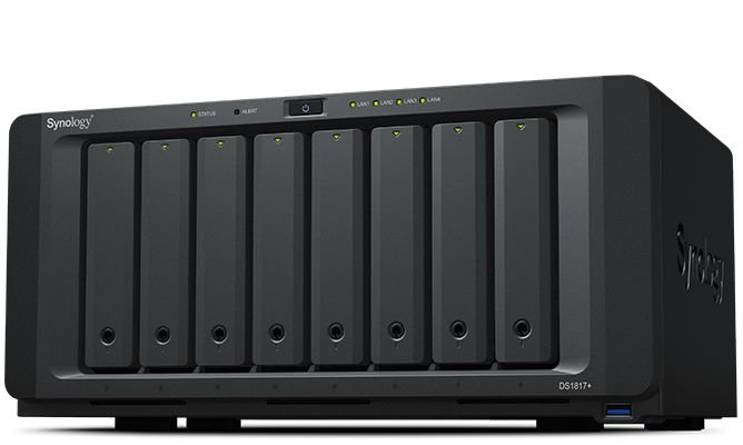 Storage NAS Synology DiskStation DS1817+(8GB) 8 Baias (expansível a 18 baias) - Sem Disco