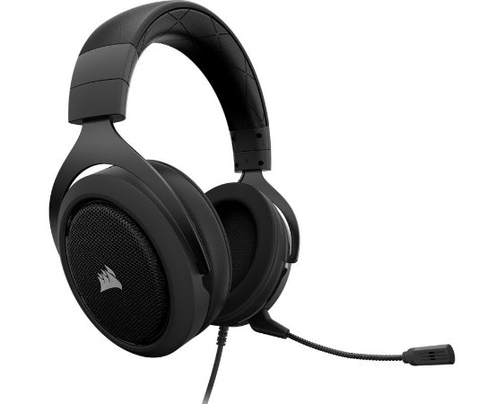 Headset Corsair HS50 Stereo Gaming Carbon