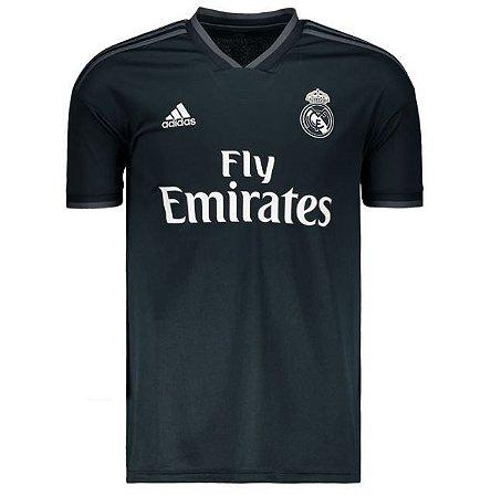 Camisa Real Madrid Away 18 17 s nº - Torcedor Adidas Masculina - Preto b63c4bf93059d