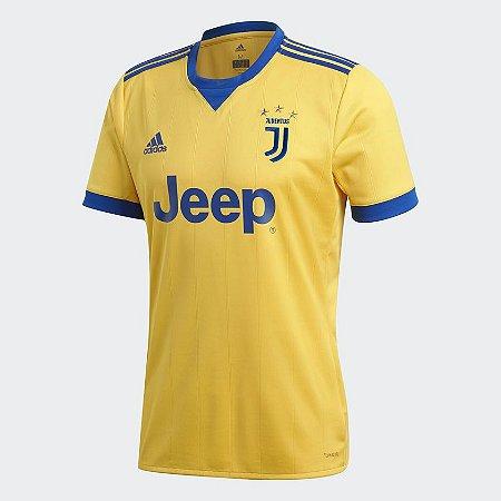 Camisa Juventus Away 17 18 s nº Torcedor Adidas Masculina - Amarelo ... 23b7abaebc7a0
