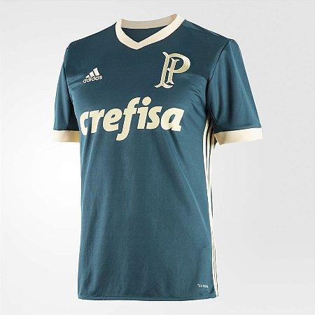 3d0d16f32 Camisa Palmeiras III 17 18 s nº Torcedor Adidas Masculina - Verde ...