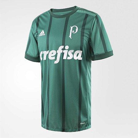 20f8fbc206 Camisa Palmeiras I 17 18 s nº Torcedor Adidas Masculina - Verde ...