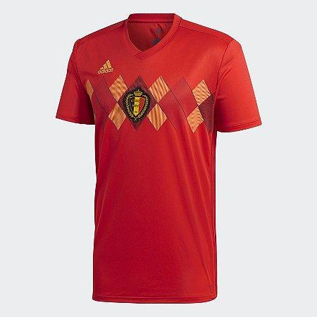 8f03f1795f Camisa Seleção Bélgica Home 2018 s n° Torcedor Adidas Masculina - Vermelho