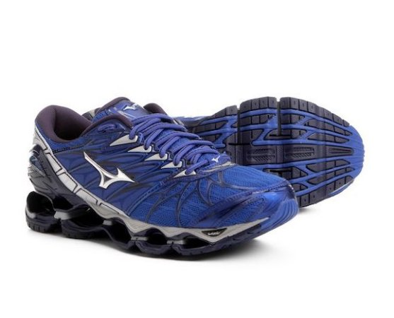 1d1585cc33 Tênis Mizuno Wave Prophecy 7 Masculino - Azul e Prata - Tenis Com ...