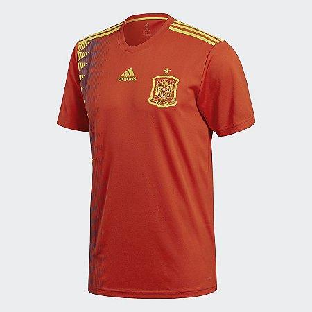 3dbec70699d4c Camisa Espanha Home 2018 s n° Torcedor Adidas Masculina - Vermelho ...