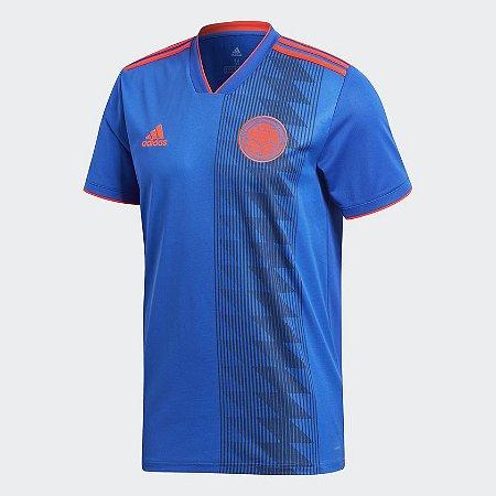 01e6155df0dfb Camisa Seleção Colômbia Away 18 19 s n° Torcedor Adidas Masculina - Azul
