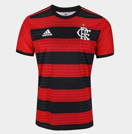 Camisa Flamengo I 2018 s n° Torcedor Adidas Masculina - Vermelho e Preto f0ccf5e03ee33