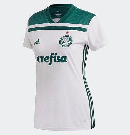 37f2c82f0cd31 Camisa Palmeiras II 2018 s n° Torcedor Adidas Feminina - Branco e Verde